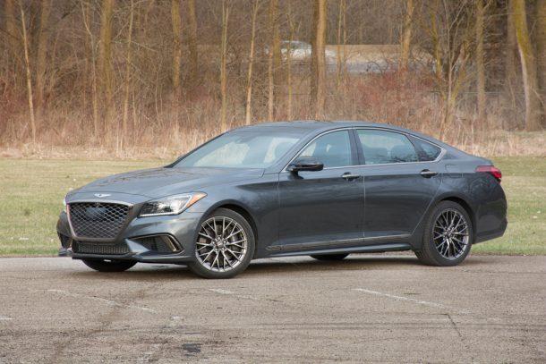 2018-Genesis-G80-3.3t-Sport-front-quarter-610x407